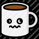 dizzy, emoji, emotion, expression, face, feeling, mug icon