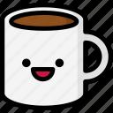 emoji, emotion, expression, face, feeling, happy, mug icon