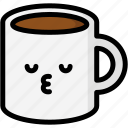 emoji, emotion, expression, face, feeling, kiss, mug icon