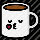 emoji, emotion, expression, face, feeling, kiss, mug icon