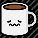 emoji, emotion, expression, face, feeling, mug, nervous icon