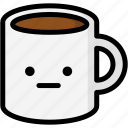 emoji, emotion, expression, face, feeling, mug, neutral