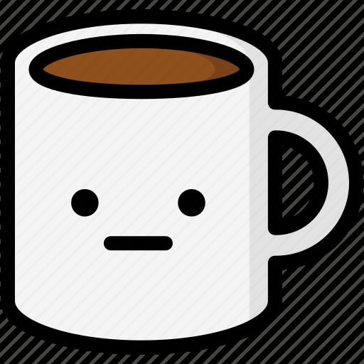 emoji, emotion, expression, face, feeling, mug, neutral icon