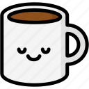 emoji, emotion, expression, face, feeling, mug, peace icon