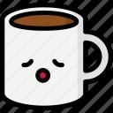 emoji, emotion, expression, face, feeling, mug, relax icon