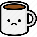 emoji, emotion, expression, face, feeling, mug, sad icon