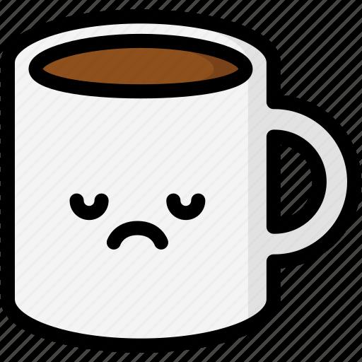 emoji, emotion, expression, face, feeling, mug, sad icon