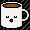 emoji, emotion, expression, face, feeling, mug, sleeping icon
