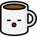 emoji, emotion, expression, face, feeling, mug, sleeping icon