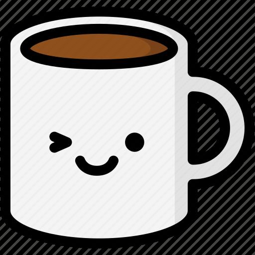 emoji, emotion, expression, face, feeling, mug, smile icon