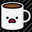 emoji, emotion, expression, face, feeling, mug, stunning icon