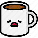 emoji, emotion, expression, face, feeling, mug, tried icon