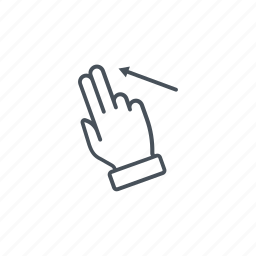 click, finger, gesture, pinch, screen, swipe, touch icon