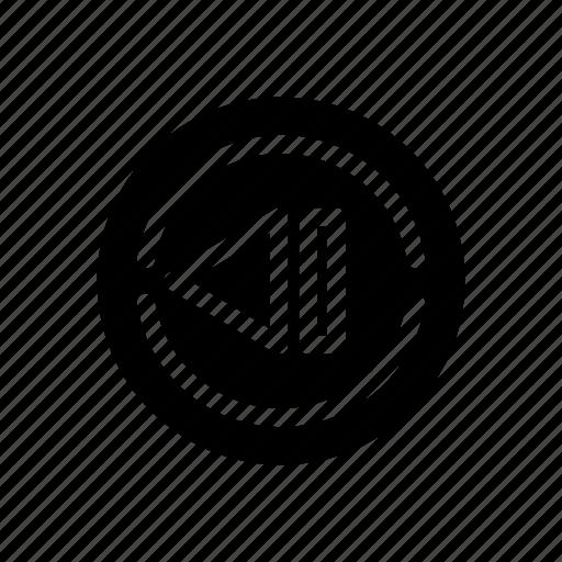 back, multimedia icon