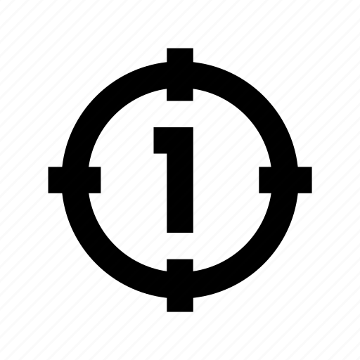 camera focus, crosshair, dashed circle, focus selector, target icon