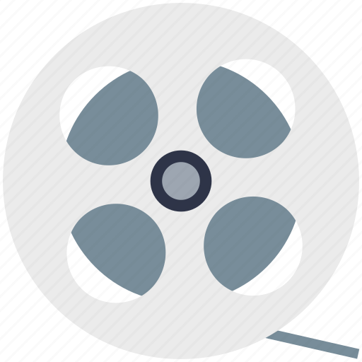 camera reel, film, film reel, image reel, movie reel icon