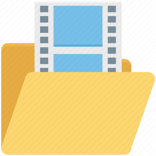 film, folder, movie, movie clips, movie folder, video, videos icon