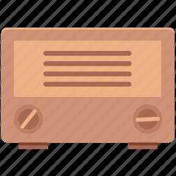 media, old radio, radio, radio set, technology, transmission, tuner icon