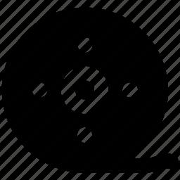 bobbin reel, camera reel, film stip, multimedia, reel, tape reel icon