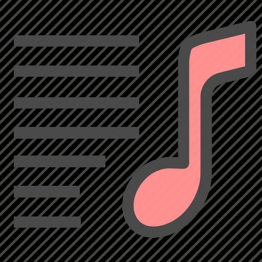 list, multimedia, music icon