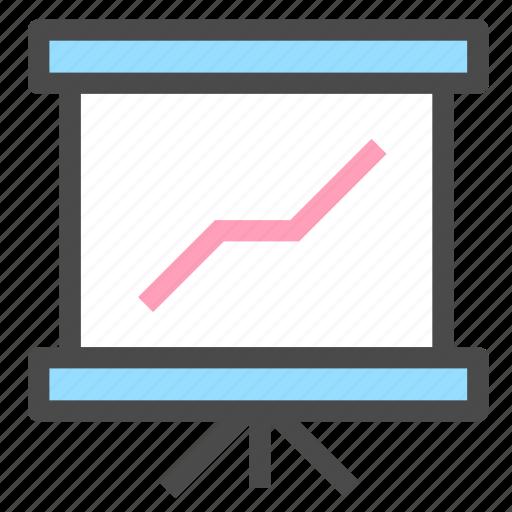 analytics, powerpoint, slideshow, statistics icon