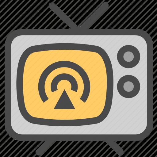 media, television, tv icon