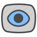 camera, eye, video icon