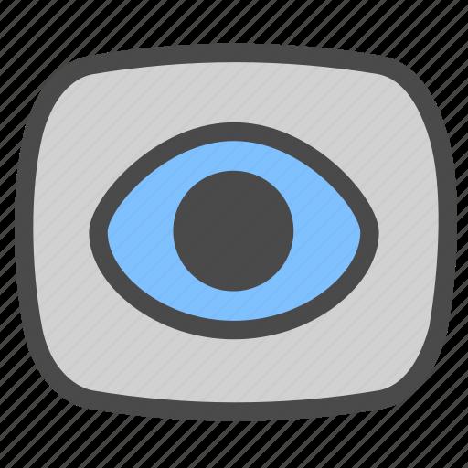 camera, eye, video icon