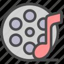 cinema, film, movie, multimedia, music icon