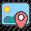 image, location, photo, picture icon