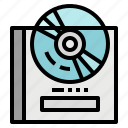 bluray, cd, dvd, music, player icon
