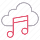 cloud, media, melody, music, storage