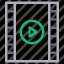 filmstrip, media, play, playlist, video icon