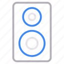 gadget, media, sound, speaker, woofer icon