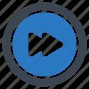 forward, media, multimedia, next, player icon