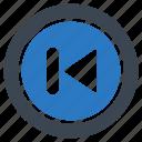 backward, media, player, previous, sign icon