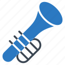 audio, instrument, music, song, trumpet icon