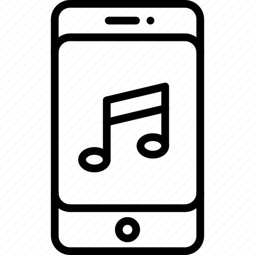 cell phone, mobile media, mobile music, music, smartphone icon