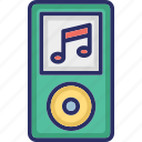 ipod, mp4 player, music device, music player, walkman icon