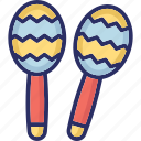instrument, maracas, music, play, sound icon