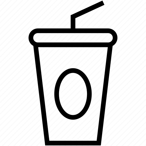 beverage, juice cup, paper cup, paper glass, straw cup icon