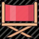 chair, cinema, director, movie, seat