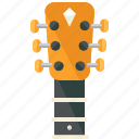 guitar, instrument, music, musical icon