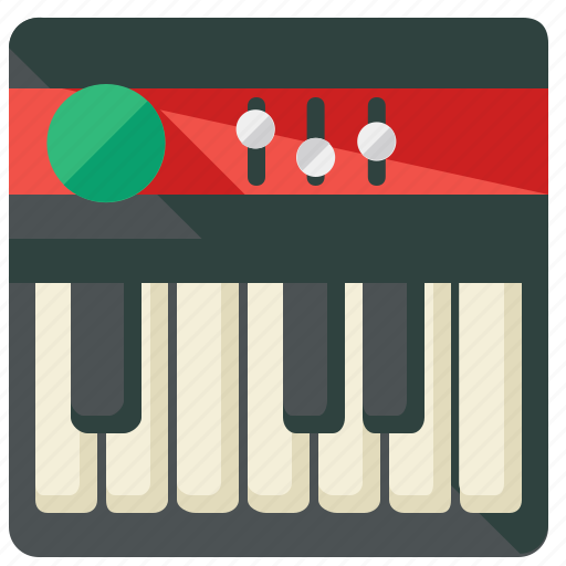 instrument, keyboard, music, musical icon