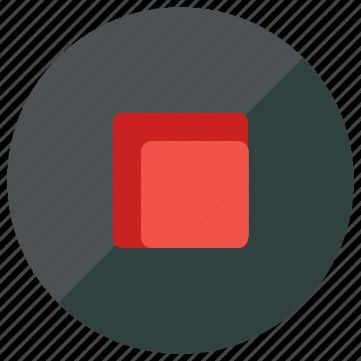 media, multimedia, stop icon