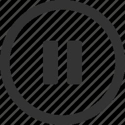 break, pause, pause audio, pause music, stop icon
