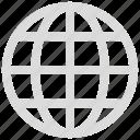 globe, internet, online, web icon icon