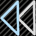 back, control, left, rewind icon icon