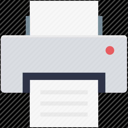 fax, inkjet printers, laser printers, printer, printing machine icon