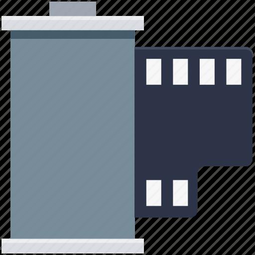 camera, camera reel, film, film reel, film strip, image reel, movie reel icon